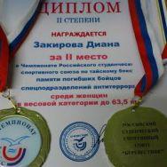 1й Чемпионат Российского студенческого спортивного союза по Тайскому боксу(1ЧРССС)